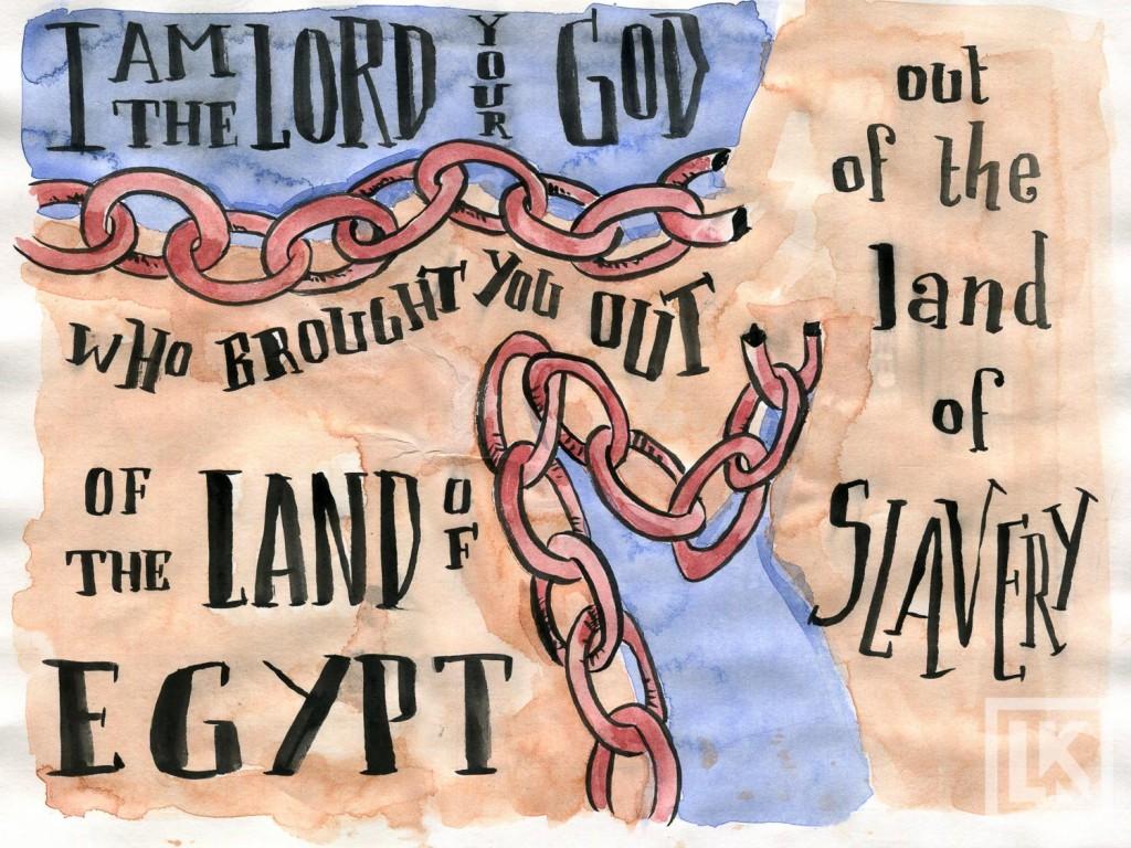 Exodus 20:2 Bible verse art