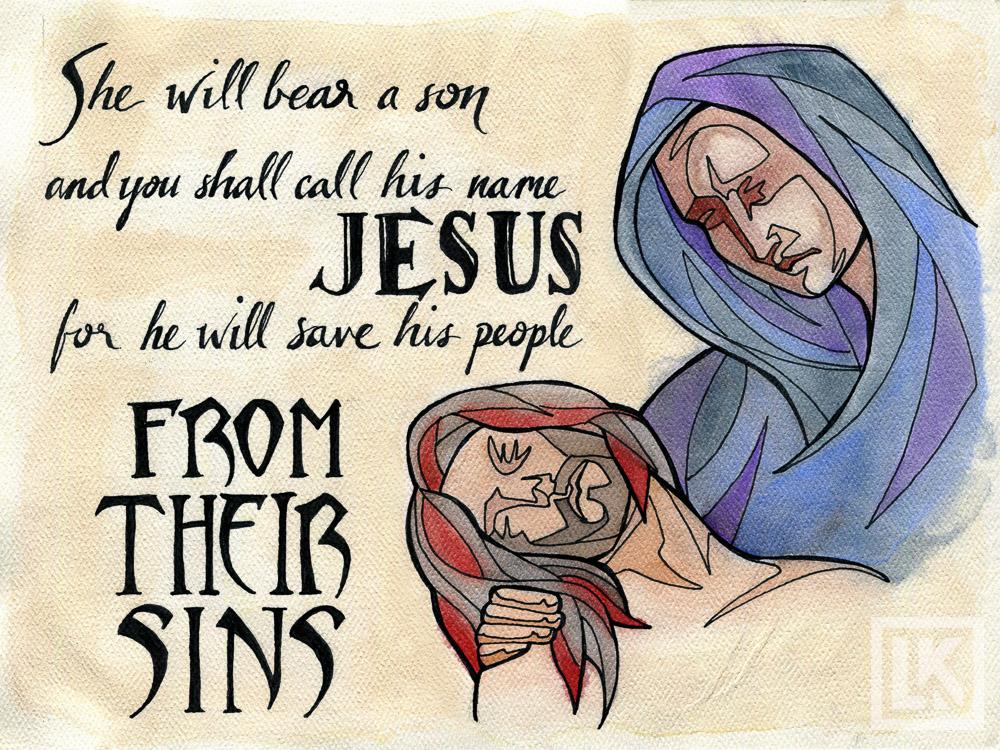 Matthew 1:21 Bible verse art