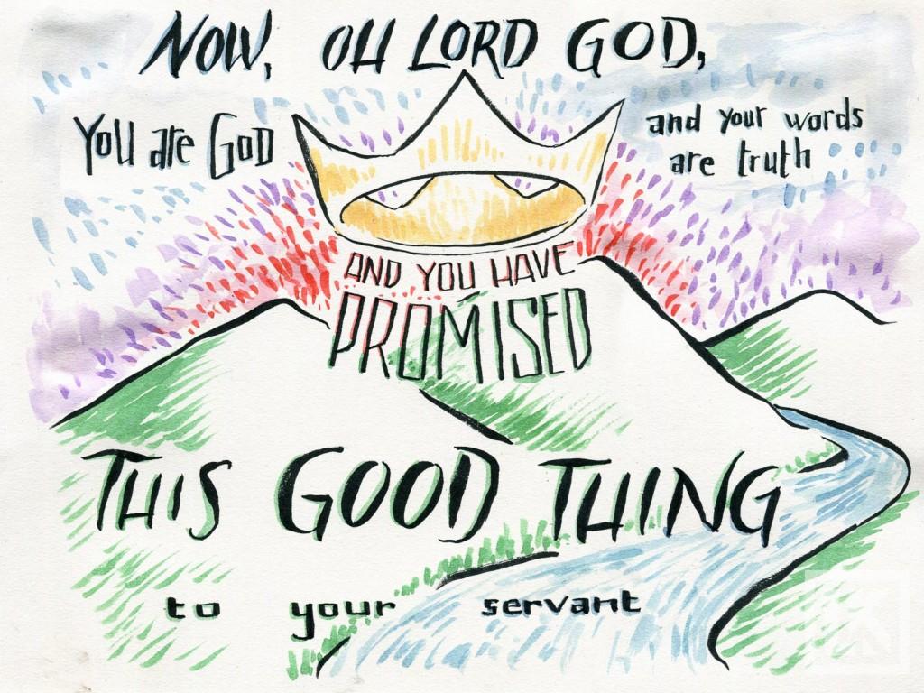 2 samuel 7:28 Bible verse art