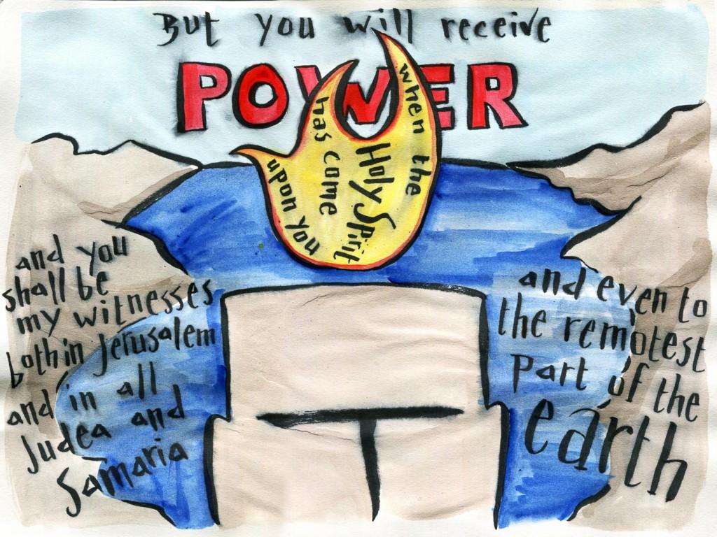 Acts 1.8 Bible verse art