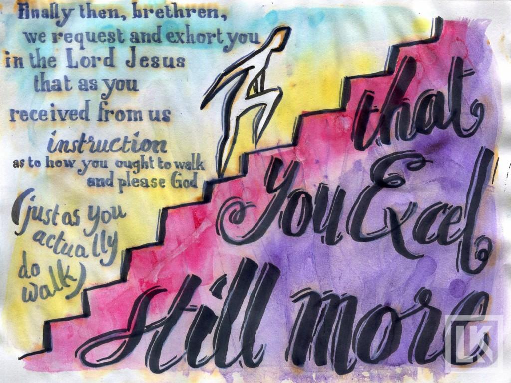 1 Thessalonians 4:1 Bible verse art