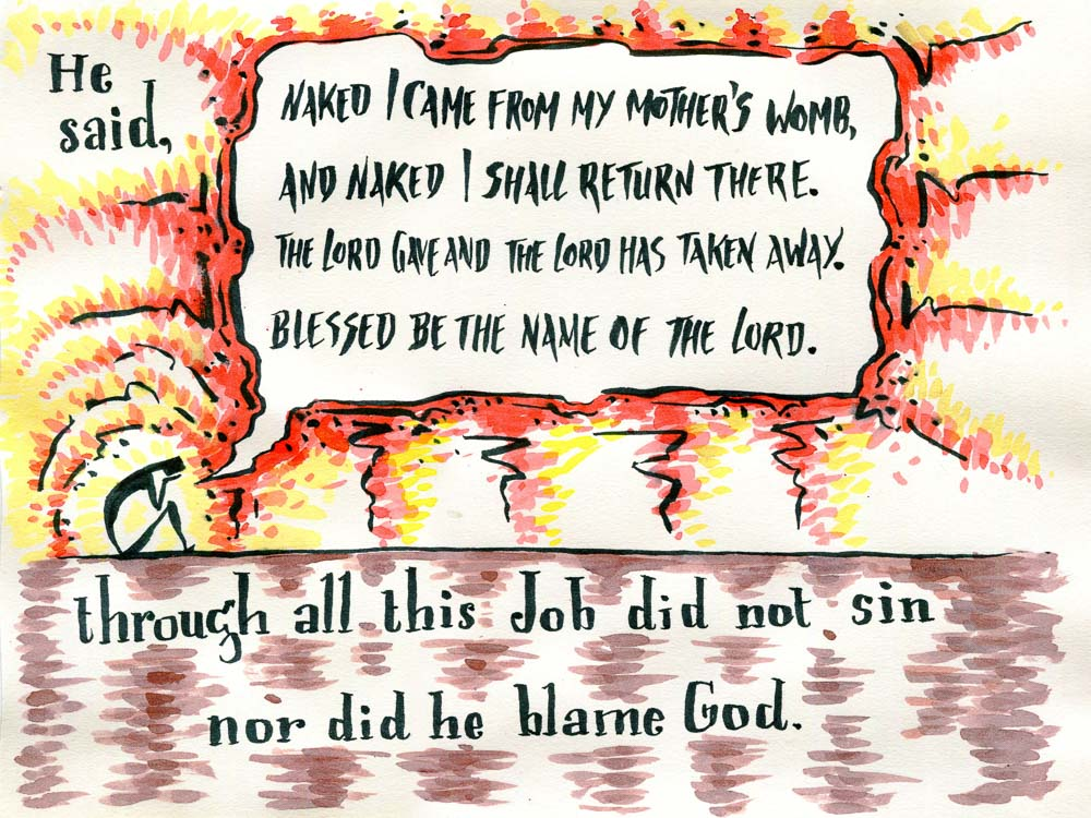 Job bible verse art-