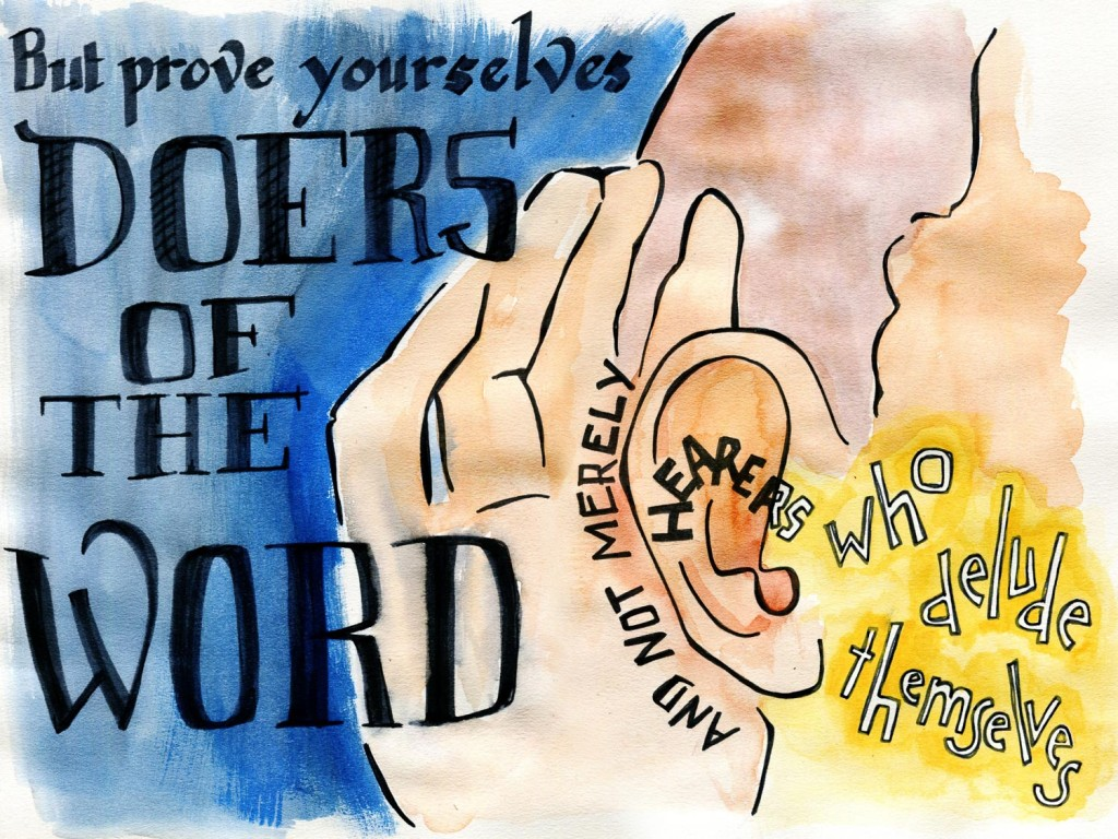 James 1:22 Bible verse art