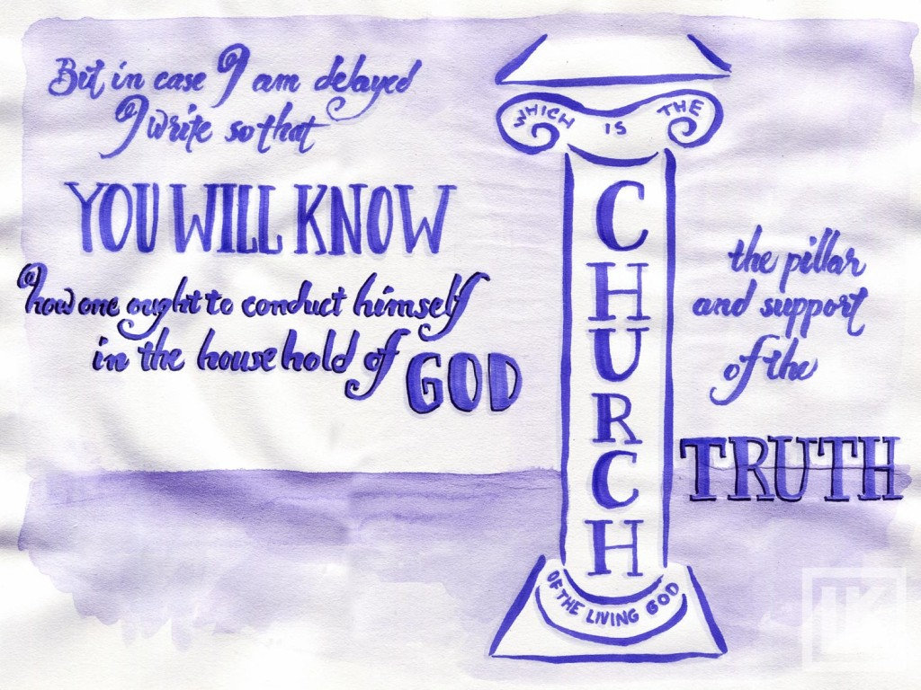 1 Timothy 3:15 Bible verse art