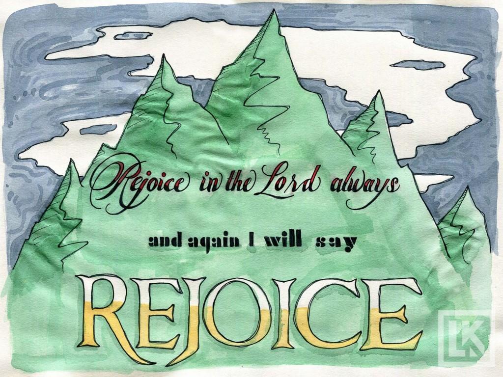 Philippians 4:4 Bible verse art
