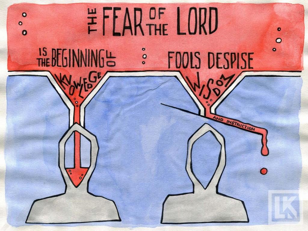 Proverbs 1:7 Bible verse art