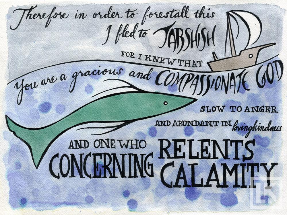 Jonah 4:2 Bible verse art