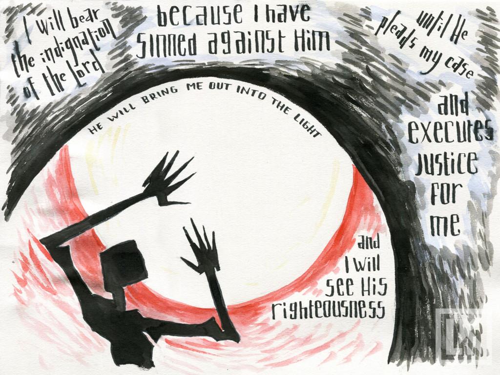Micah 9:9 Bible verse art