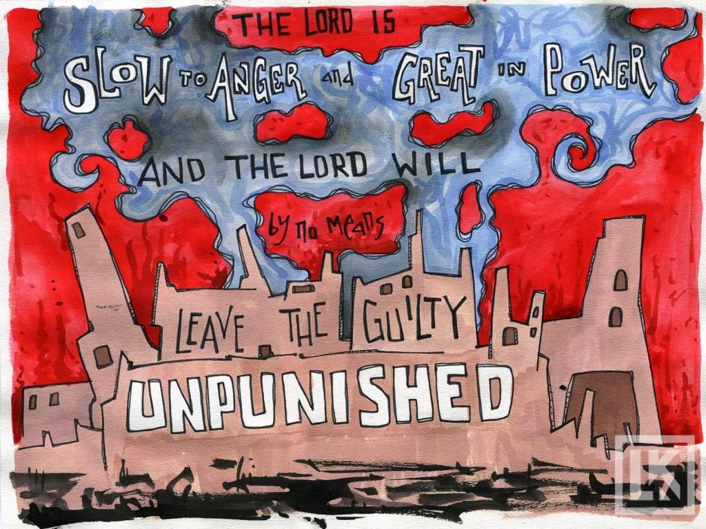 Nahum 1:3 Bible verse art