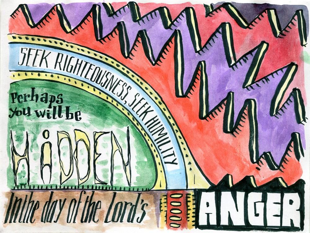 Zephaniah 2:3 Bible verse art