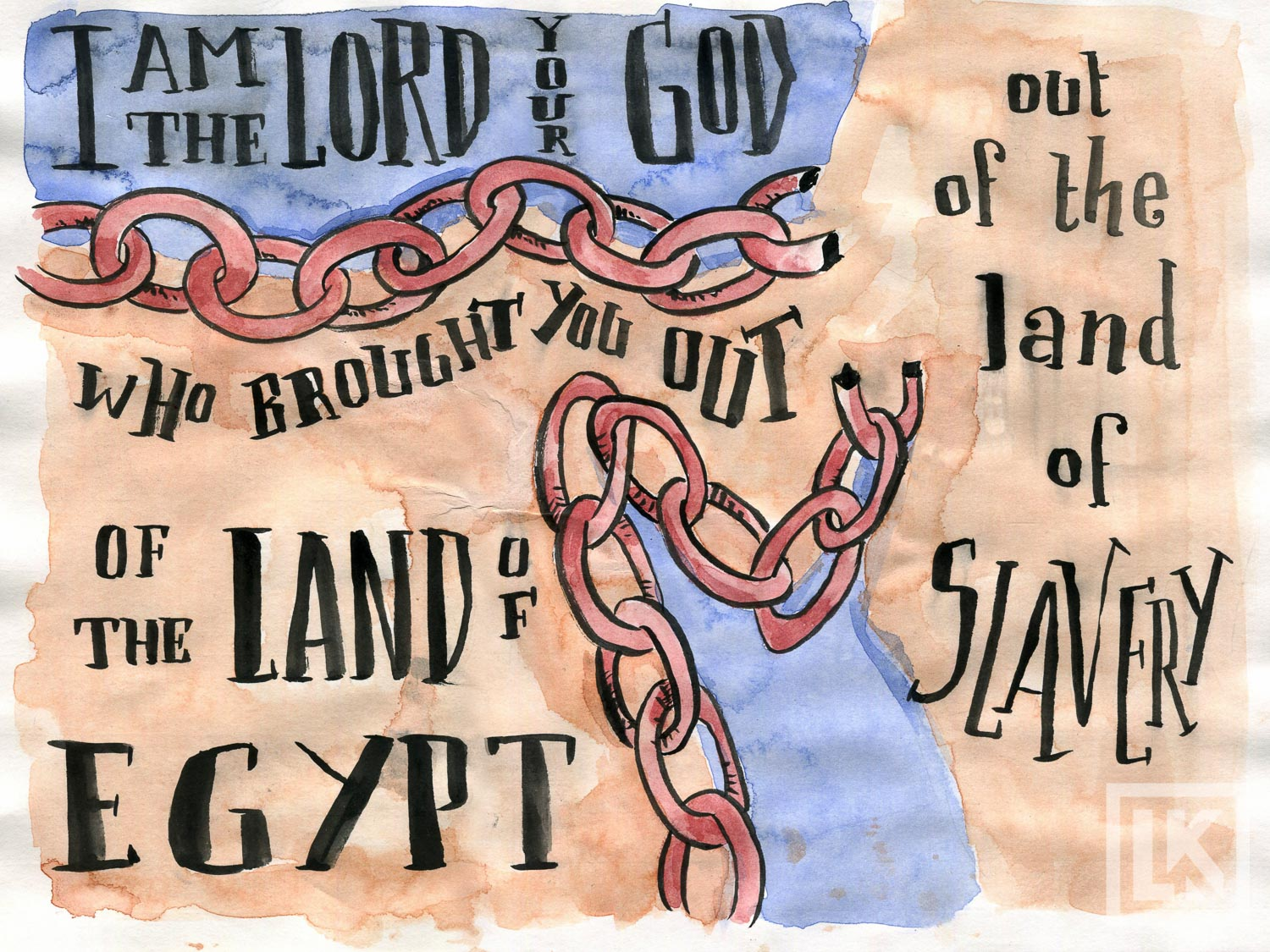 Bible Art Theme Verse Exodus