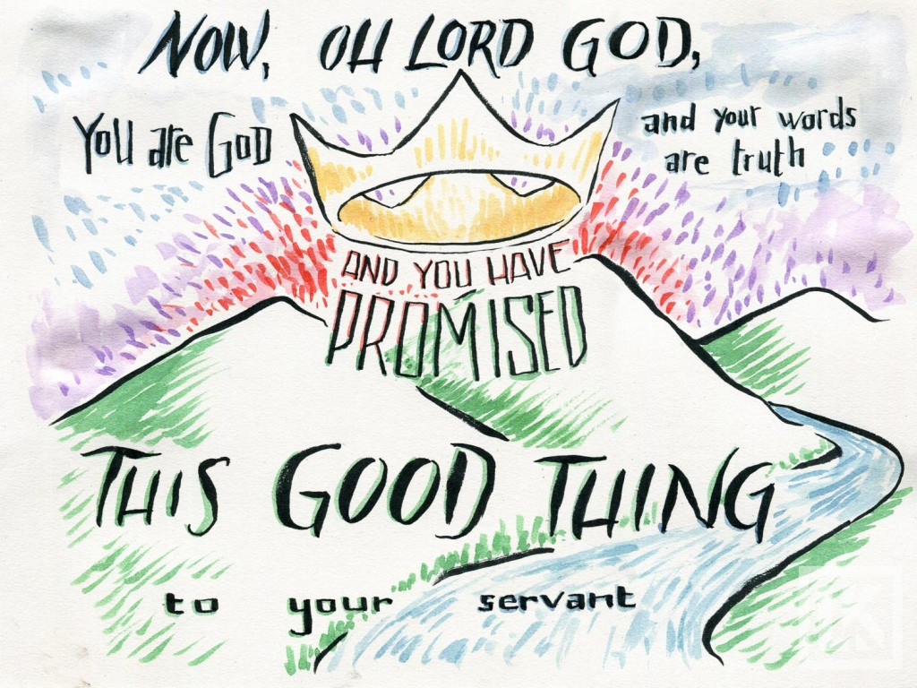 Bible verse drawing 2 Samuel 7:28
