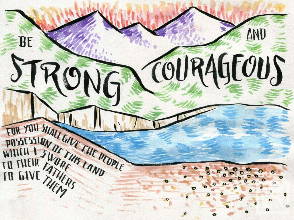 Joshua 1-6 drawing-Theme verse Joshua
