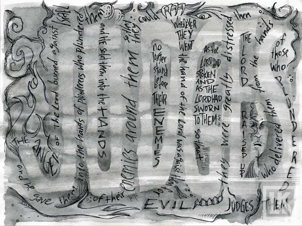 Judges 2:14 Bible verse art