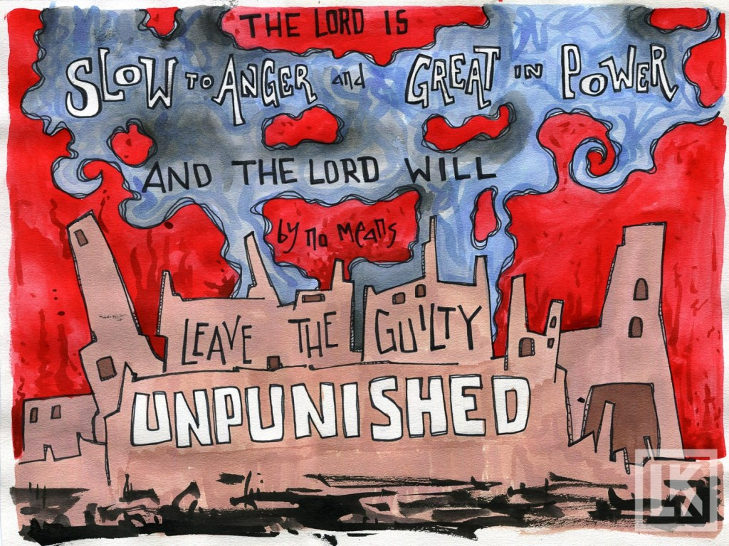 bible verse art by laura kranz-Theme verse Nahum