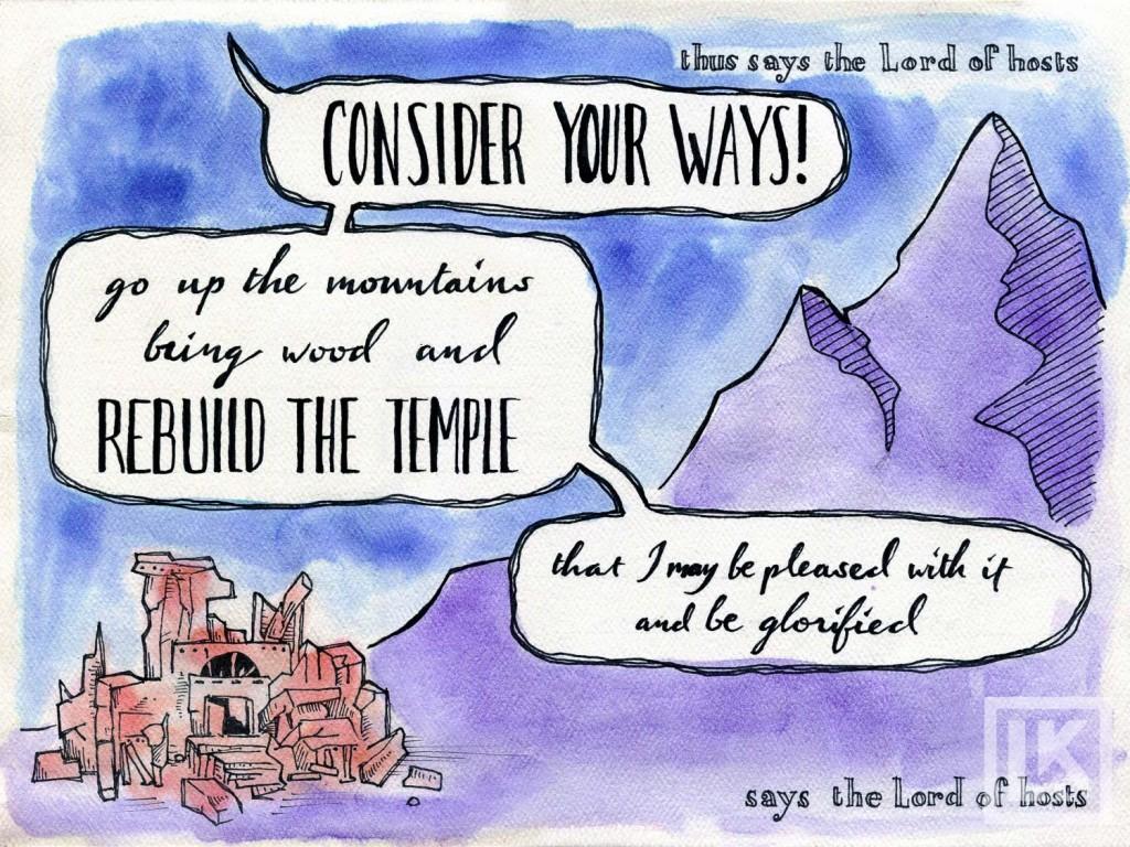 Haggai 1:7 Bible verse art