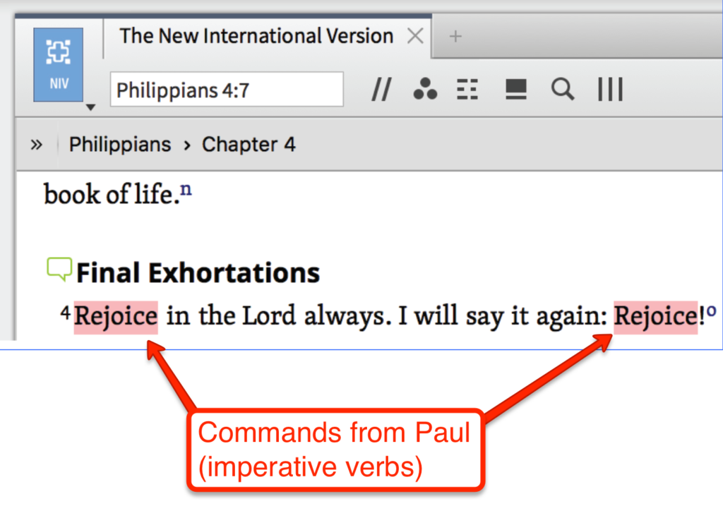logos-bible-software-review-imperative-verbs-rejoice