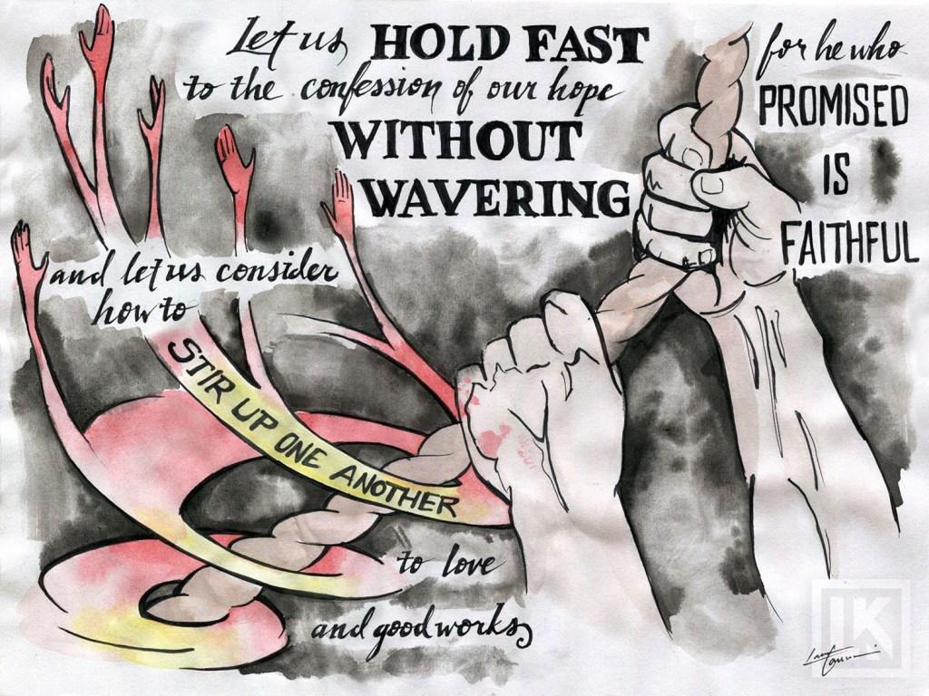 Hebrews 10:23 Bible verse art