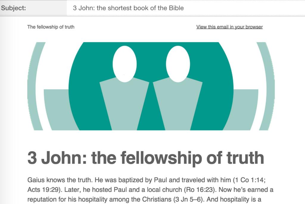 3 John email screenshot
