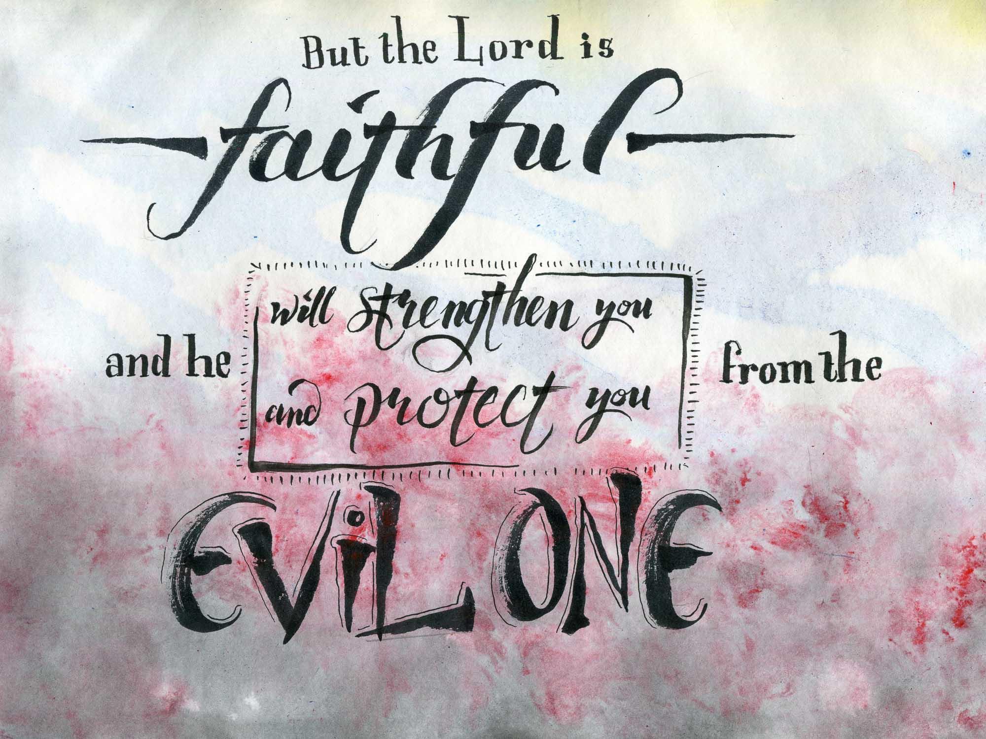 2 thessalonians 3:3 Bible verse art