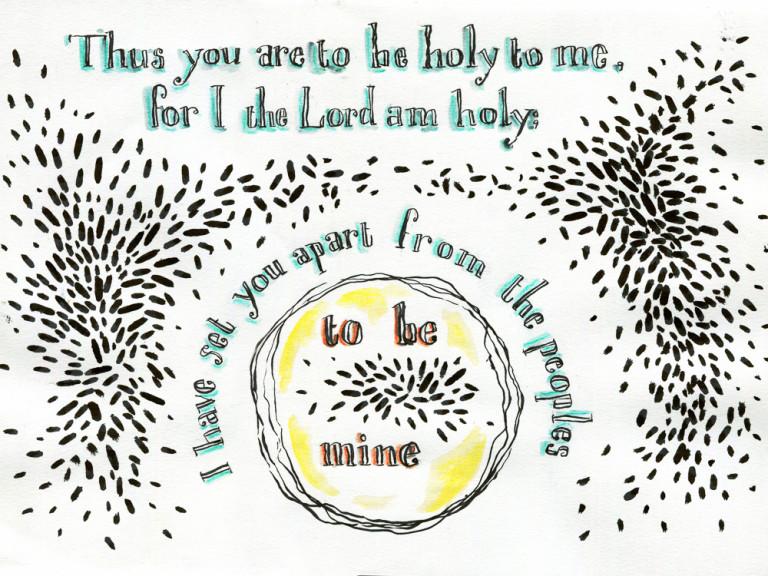 Bible verse art Leviticus 20.26