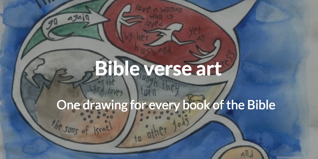 Bible verse art: one drawing for every book of the Bible