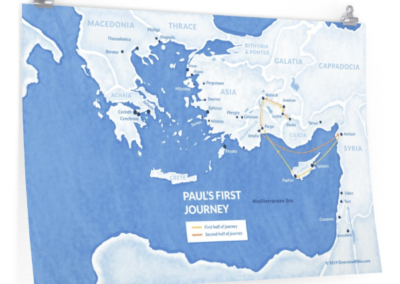 pauls-first-missionary-journey-poster