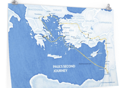 pauls-second-missionary-journey-poster
